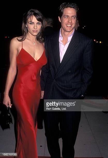 "Actress Elizabeth Hurley and actor Hugh Grant attend the ""Extreme Measures"" Beverly Hills Premiere on September 25, 1996 at the Academy Theatrei n..."