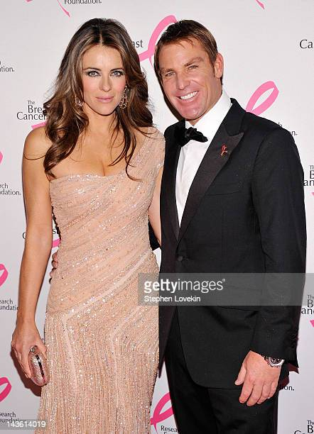 Actress Elizabeth Hurley and former Australian International Cricketeer Shane Warne attend The Breast Cancer Research Foundation's 'Hot Pink Party'...