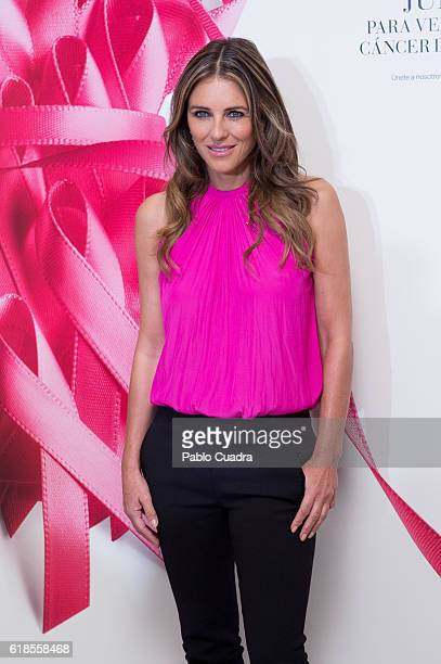 Actress Elizabeth Hurley attends AECC cancer association meeting at Palace Hotel on October 27 2016 in Madrid Spain