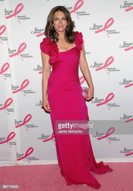 Actress Elizabeth Hurley attends the 2010 Breast Cancer Research Foundation's Hot Pink Party at The Waldorf=Astoria on April 27 2010 in New York City