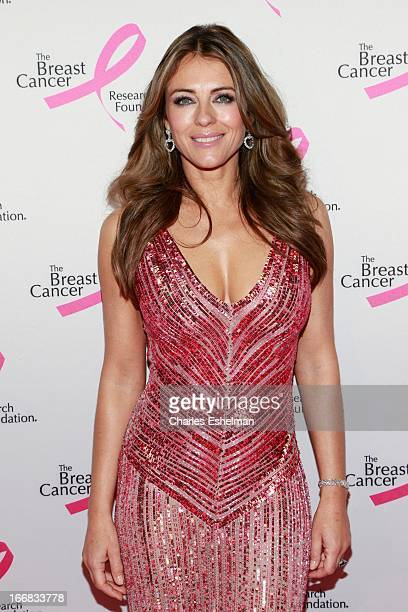 Actress Elizabeth Hurley attends The Breast Cancer Research Foundation's 2013 Hot Pink Party at The Waldorf=Astoria on April 17 2013 in New York City