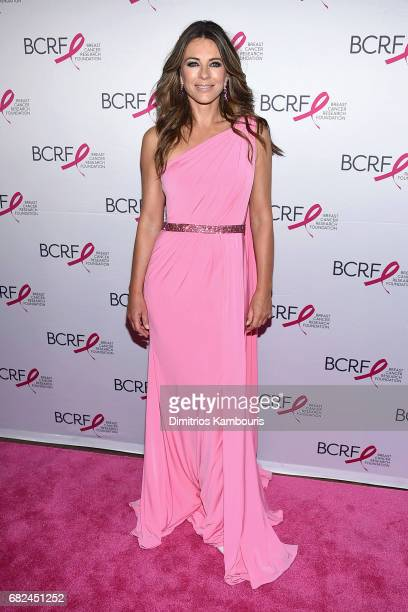 Actress Elizabeth Hurley attends The Breast Cancer Research Foundation's 2017 Hot Pink Party at the Park Avenue Armory on May 12, 2017 in New York...