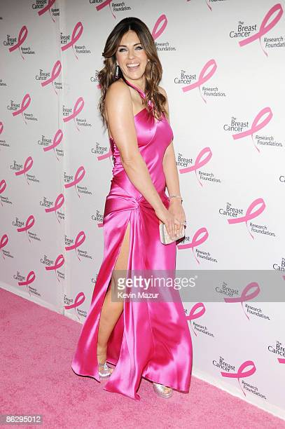 Actress Elizabeth Hurley attends The Breast Cancer Research Foundation Party sponsored by Blackberry and Verizon Wireless at Waldorf Astoria on April...