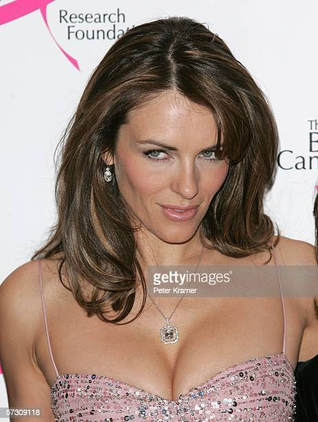 Actress Elizabeth Hurley attends the Breast Cancer Research Foundation's Very Hot Pink Party at the Waldorf Astoria on April 10th 2006 in New York...