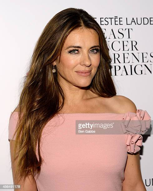 Actress Elizabeth Hurley attends the 'Hear Our Stories screening hosted by the Estee Lauder Companies Breast Cancer Awareness Campaign and the Cinema...