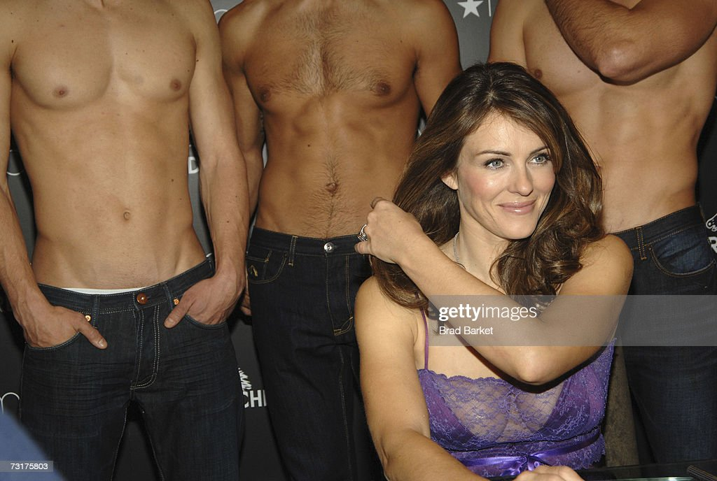Elizabeth Hurley Launches Jordache At Macy's Herald Square : News Photo
