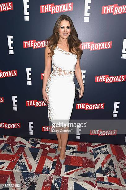 Actress Elizabeth Hurley attends 'The Royals' New York Series Premiere at The Standard Highline on March 9 2015 in New York City