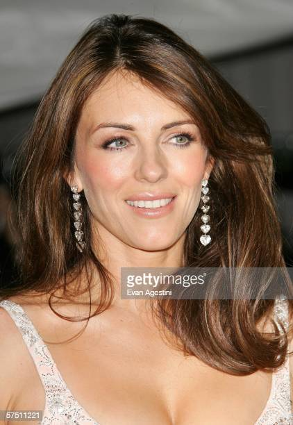 Actress Elizabeth Hurley departs the Metropolitan Museum of Art Costume Institute Benefit Gala 'AngloMania Tradition and Transgression in British...