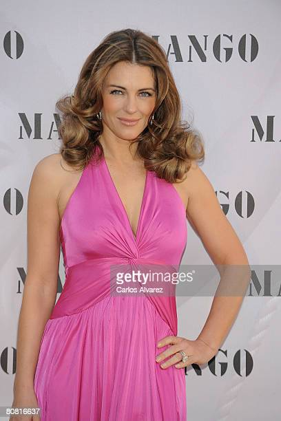 Actress Elizabeth Hurley launches Elizabeth Hurley for MNG Collection on April 22 2008 at the Urban Hotel in Madrid Spain