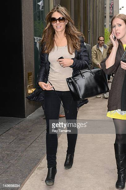 Actress Elizabeth Hurley leaves the Sirius XM Studios on May 1 2012 in New York City