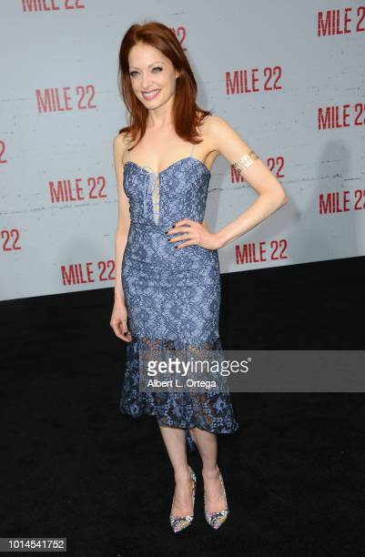 Actress Elizabeth J Carlisle arrives for the Premiere Of STX Films' 'Mile 22' held at Westwood Village Theatre on August 9 2018 in Westwood California