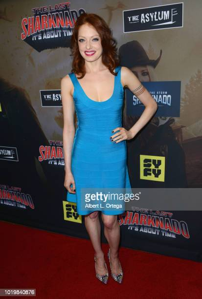 Actress Elizabeth J Carlisle arrives for the Premiere Of The Asylum And Syfy's 'The Last Sharknado It's About Time' held at Cinemark Playa Vista on...