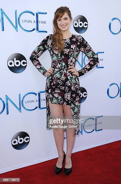 Actress Elizabeth Lail arrives at ABC's 'Once Upon A Time' Season 4 Red Carpet Premiere at the El Capitan Theatre on September 21 2014 in Hollywood...