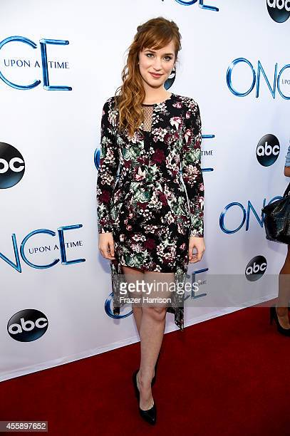 """Actress Elizabeth Lail attends a screening of ABC's """"Once Upon A Time"""" Season 4 at the El Capitan Theatre on September 21, 2014 in Hollywood,..."""