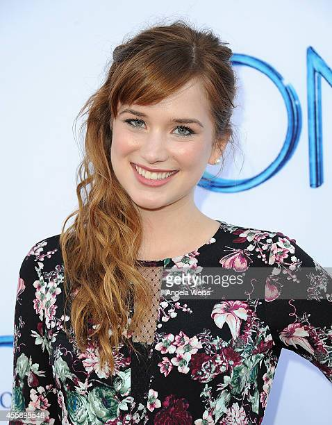 Actress Elizabeth Lail attends ABC's Once Upon A Time Season 4 red carpet premiere at the El Capitan Theatre on September 21 2014 in Hollywood...