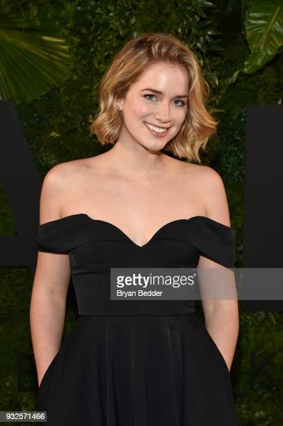 Actress Elizabeth Lail attends the 2018 AE Upfront on March 15 2018 in New York City