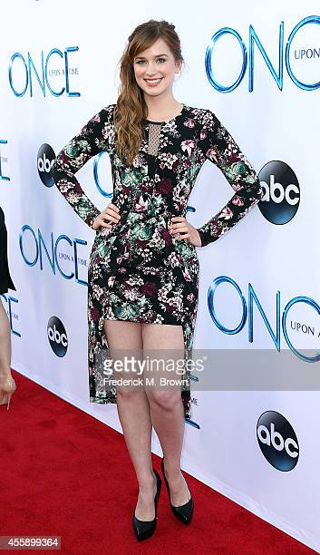 """Actress Elizabeth Lail attends the Screening of ABC's """"Once Upon A Time"""" Season 4 at the El Capitan Theatre on September 21, 2014 in Hollywood,..."""