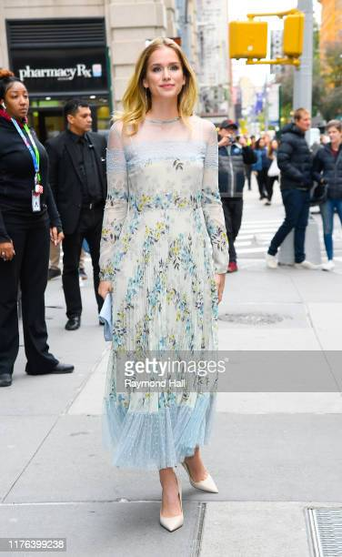 Actress Elizabeth Lail is seen outside build studio on October 17, 2019 in New York City.