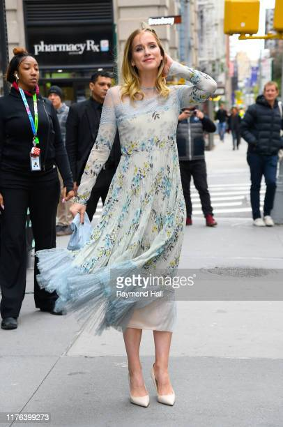 Actress Elizabeth Lail is seen outside build studio on October 17 2019 in New York City