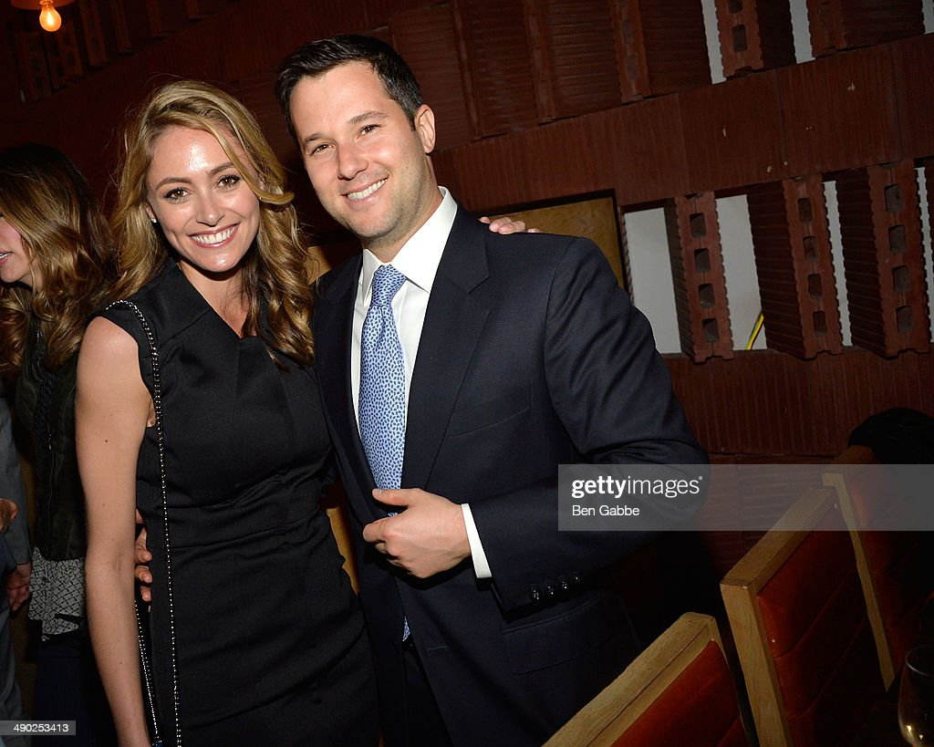 Actress Elizabeth Masucci (L) and Jason Gutman attend the Gersh New York Upfronts Party at Asellina at the Gansevoort on May 13, 2014 in New York City.