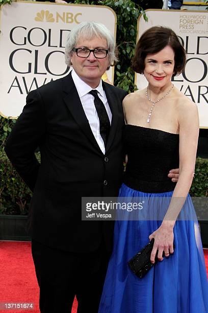 Actress Elizabeth McGovern and husband Simon Curtis arrive at the 69th Annual Golden Globe Awards held at the Beverly Hilton Hotel on January 15 2012...