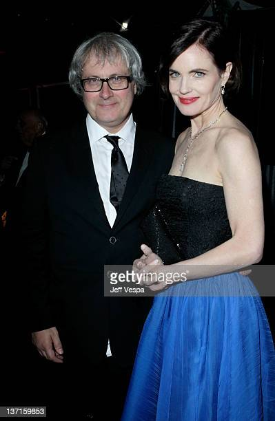 Actress Elizabeth McGovern and husband Simon Curtis attend The Weinstein Company's 2012 Golden Globe Awards After Party with Chopard Marie Claire and...