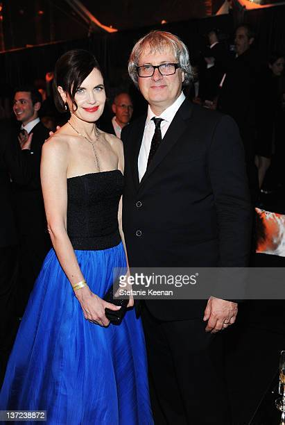 Actress Elizabeth McGovern and husband Simon Curtis attend The Weinstein Company Celebration of the 2012 Golden Globes presented by Chopard held at...