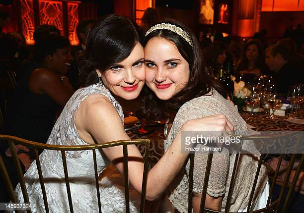 Actress Elizabeth McGovern and Matilda McGovern attend the 40th AFI Life Achievement Award honoring Shirley MacLaine held at Sony Pictures Studios on...
