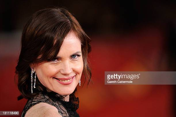 "Actress Elizabeth McGovern attends ""My Week With Marilyn"" premiere during the 6th International Rome Film Festival on November 1, 2011 in Rome, Italy."