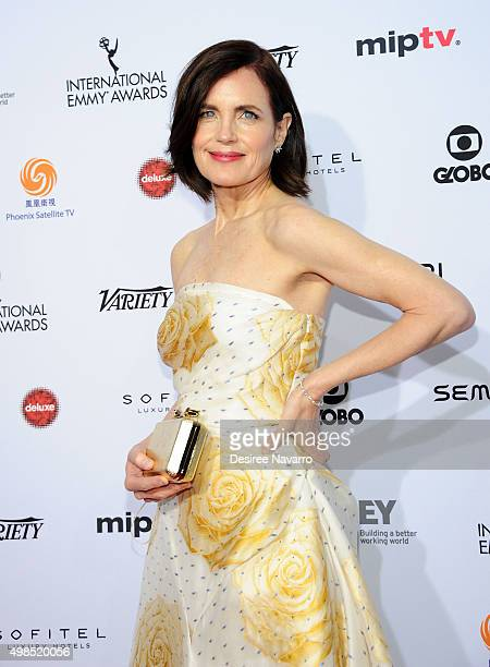 Actress Elizabeth McGovern attends the 43rd International Emmy Awards on November 23, 2015 in New York City.