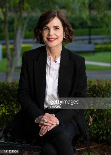 Actress Elizabeth McGovern poses during a photo shoot whilst promoting 'The Chaperone' in Sydney, New South Wales.