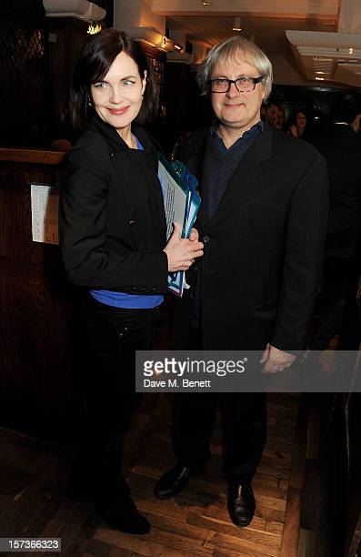 Actress Elizabeth McGovern working as a hostess and husband Simon Curtis attend One Night Only at The Ivy featuring 30 stage and screen actors...