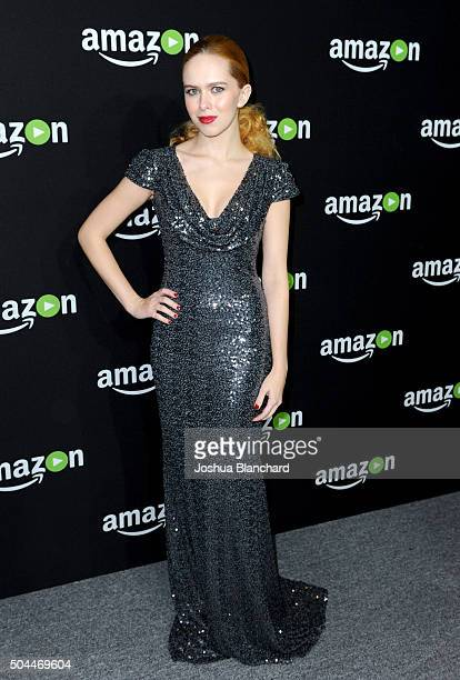 Actress Elizabeth McLaughlin attends Amazon Studios Golden Globe Awards Party at The Beverly Hilton Hotel on January 10 2016 in Beverly Hills...