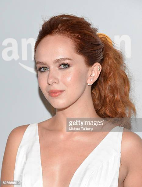 Actress Elizabeth McLaughlin attends Amazon's Emmy Celebration at Sunset Tower Hotel on September 18 2016 in West Hollywood California