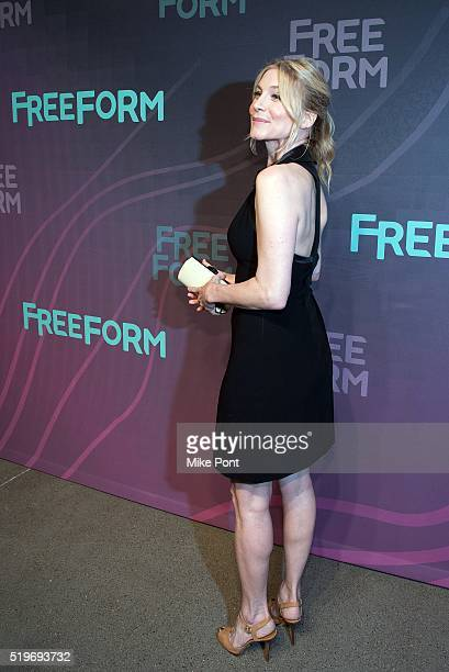 Actress Elizabeth Mitchell attends the 2016 Freeform Upfront at Spring Studios on April 7 2016 in New York City