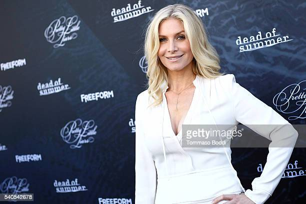 """Actress Elizabeth Mitchell attends the premiere of ABC Family's """"Dead of Summer"""" and """"Pretty Little Liars"""" Season 7 held at the Hollywood Forever on..."""