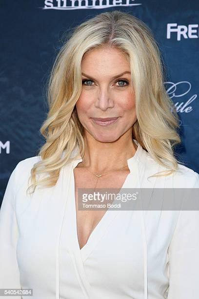 Actress Elizabeth Mitchell attends the premiere of ABC Family's 'Dead of Summer' and 'Pretty Little Liars' Season 7 held at the Hollywood Forever on...
