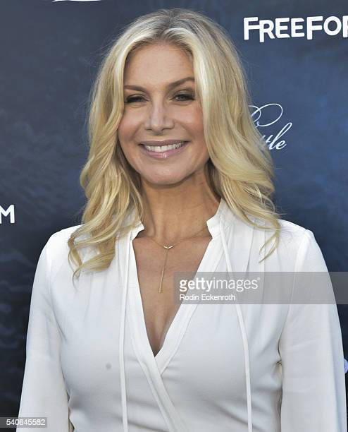 Actress Elizabeth Mitchell attends the Premiere of ABC Family's 'Pretty Little Liars' Season 7 Arrivals at Hollywood Forever on June 15 2016 in...