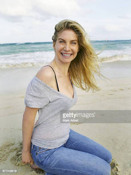 Actress Elizabeth Mitchell poses at a portrait session for Venice in Kailua HI on April 9 2009