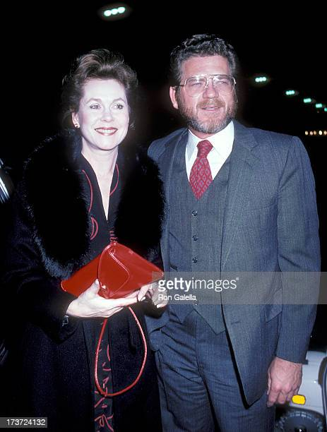 Actress Elizabeth Montgomery and actor Robert Foxworth attend the 'March of the Falsettos' Musical Opening Night Performance on April 21 1982 at the...