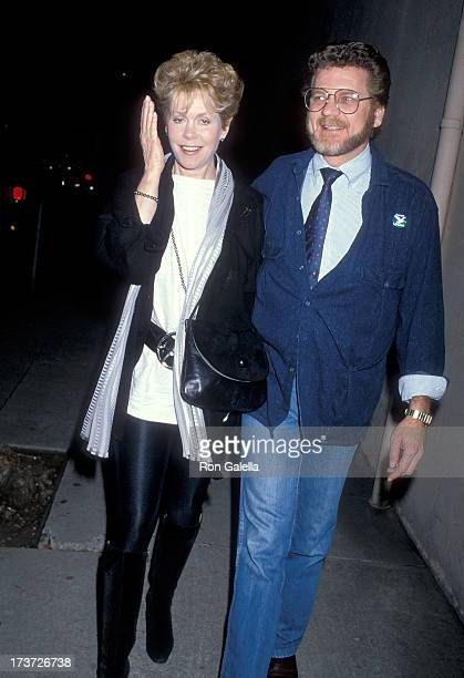 Actress Elizabeth Montgomery and actor Robert Foxworth attend the Screening of the ABC MadeforTelevision Movie 'Charley Hannah' on April 10 1986 at...