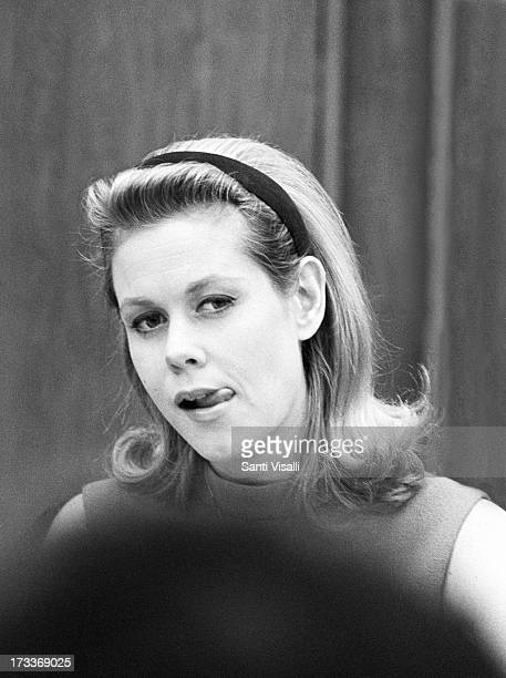 Actress Elizabeth Montgomery at a press conference on February 201966 in New York New York