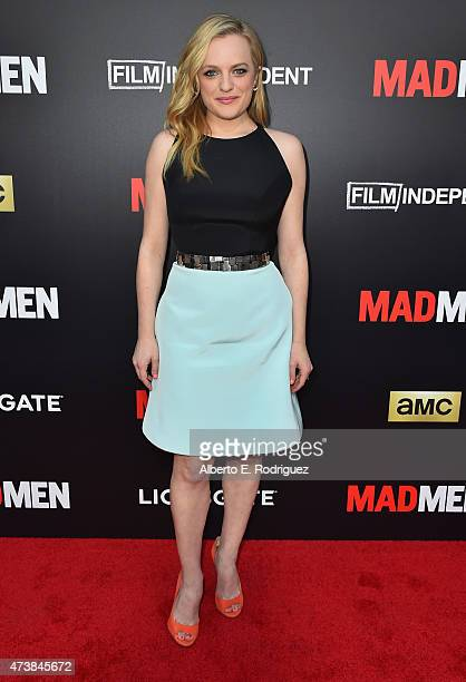 Actress Elizabeth Moss attends AMC Film Independent and Lionsgate Present Mad Men Live Read at The Theatre at Ace Hotel Downtown LA on May 17 2015 in...