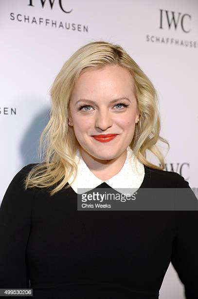 Actress Elizabeth Moss attends IWC Schaffhausen Rodeo Drive Flagship Boutique Opening on December 1 2015 in Beverly Hills California