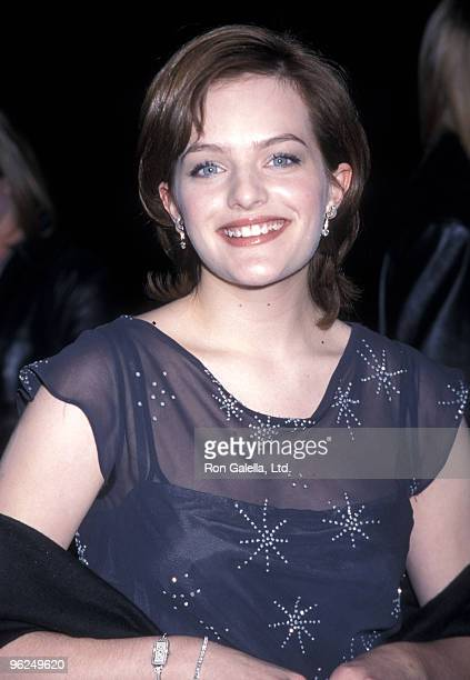 Actress Elizabeth Moss attends the Girl Interrupted Hollywood Premiere on December 8 1999 at Pacific's Cinerama Dome in Hollywood California