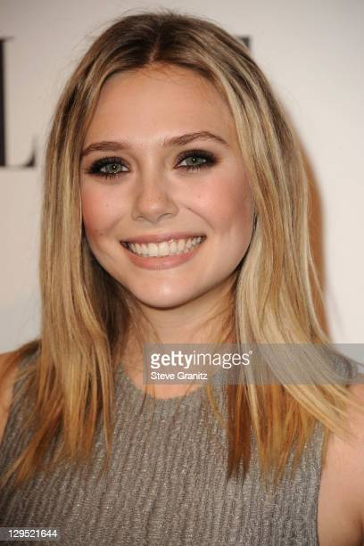 Actress Elizabeth Olsen arrives at ELLE's 18th Annual Women in Hollywood Tribute held at the Four Seasons Hotel on October 17 2011 in Los Angeles...