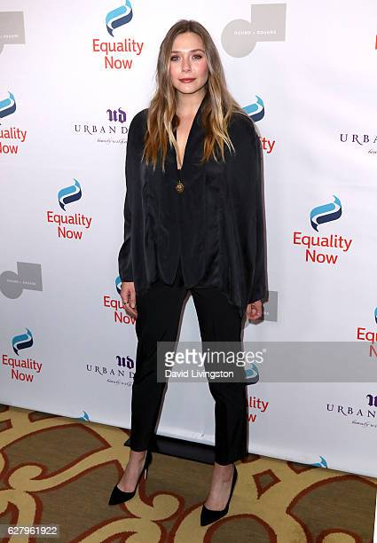Actress Elizabeth Olsen arrives at Equality Now's 3rd Annual Make Equality Reality Gala at Montage Beverly Hills on December 5 2016 in Beverly Hills...