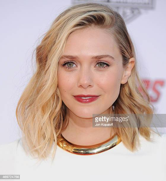 Actress Elizabeth Olsen arrives at the Los Angeles Premiere Marvel's Avengers Age Of Ultron at Dolby Theatre on April 13 2015 in Hollywood California