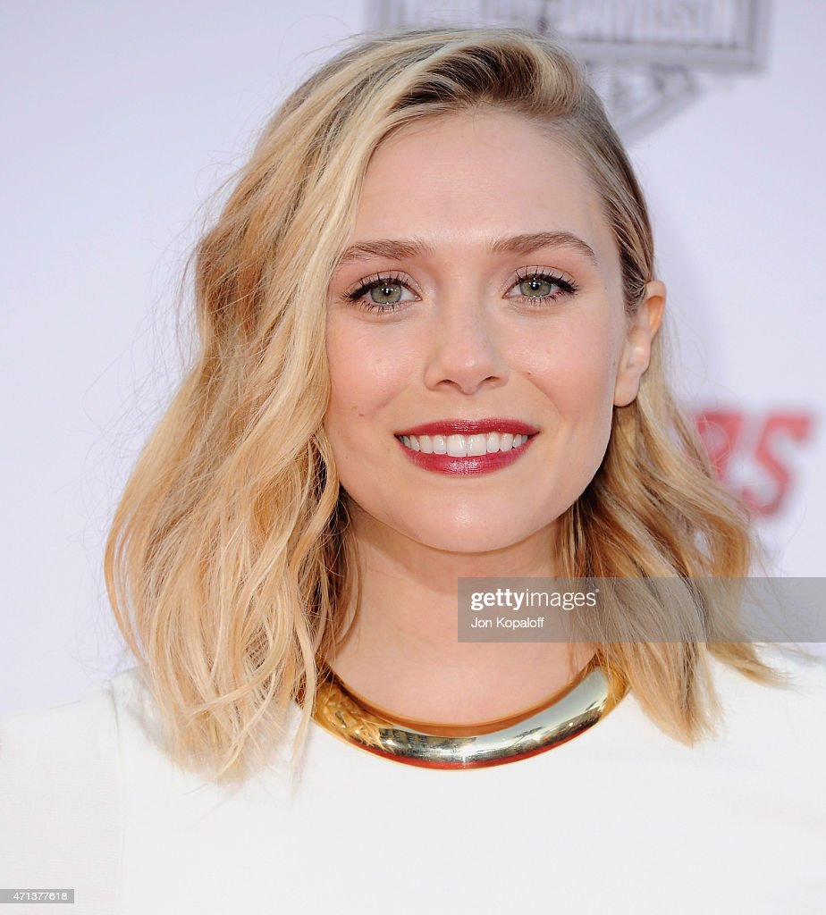 Actress Elizabeth Olsen arrives at the Los Angeles Premiere Marvel's 'Avengers Age Of Ultron' at Dolby Theatre on April 13, 2015 in Hollywood, California.