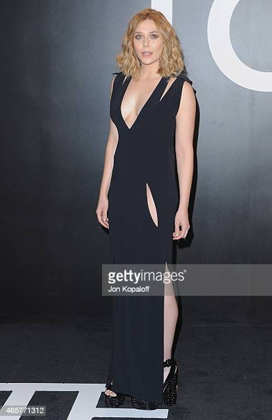 Actress Elizabeth Olsen arrives at Tom Ford Autumn/Winter 2015 Womenswear Collection Presentation at Milk Studios on February 20 2015 in Los Angeles...